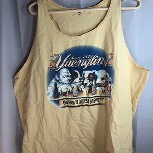 Yuengling Lager yellow tank top size unknown